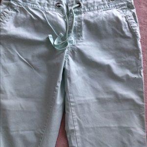 Wide Leg Sea Foam Green/Aqua Cropped Pants